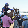 Tonalist's Shape wins the 2020 Davona Dale Stakes at Gulfstream Park. Photo: Coglianese Photos/Ryan Thompson
