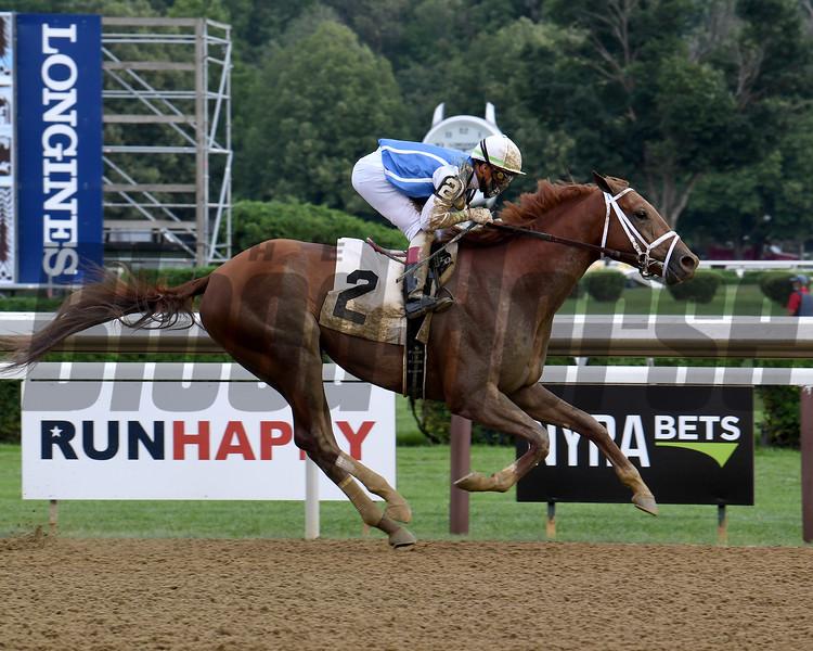 Happy Saver wins an allowance race Sunday, July 26, 2020 at Saratoga Race Course. Photo: Coglianese Photos
