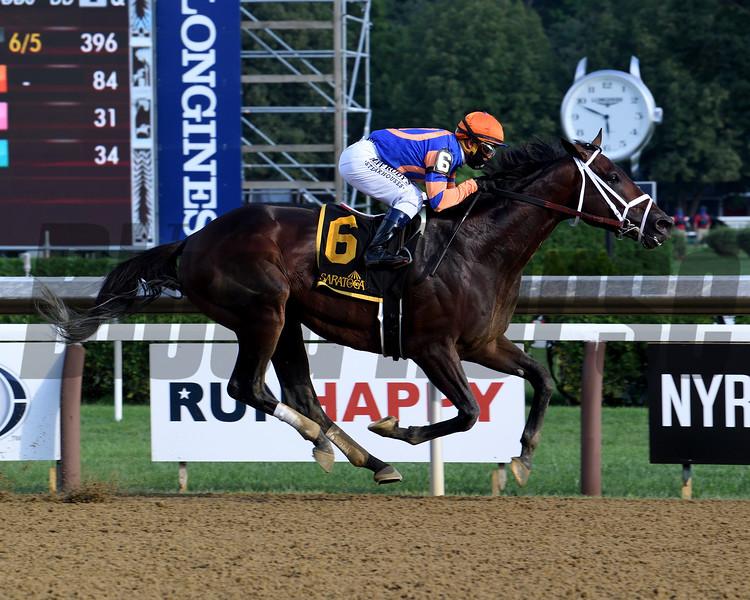Moretti wins the Birdstone Stakes Sunday, August 2, 2020 at Saratoga. Photo: Coglianese Photos/Susie Raisher