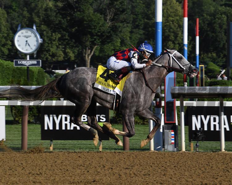 Volatile wins 2020 Alfred G. Vanderbilt Handicap at Saratoga. Photo: Coglianese Photos/Susie Raisher