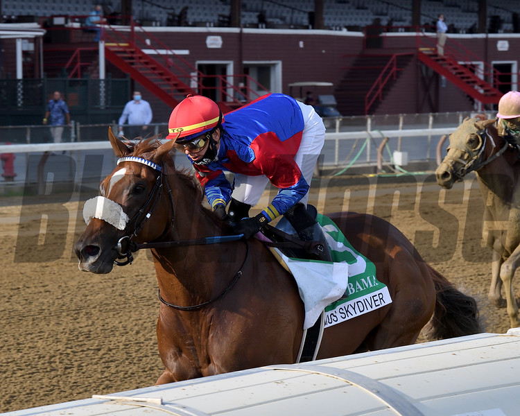 Swiss Skydiver wins the 2020 Alabama Stakes at Saratoga<br /> Coglianese Photos/Chelsea Durand