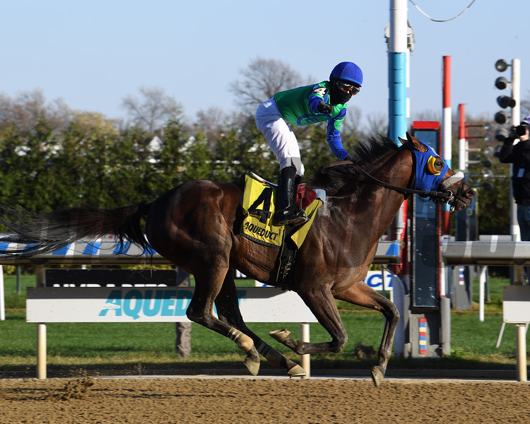 Eagle Orb wins the 2020 Notebook Stakes at Aqueduct<br /> Coglianese Photos/Susie Raisher