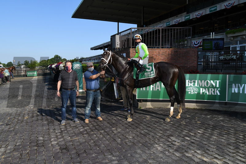 Social Paranoia wins the 2020 Poker Stakes at Belmont Park<br /> Coglianese Photos