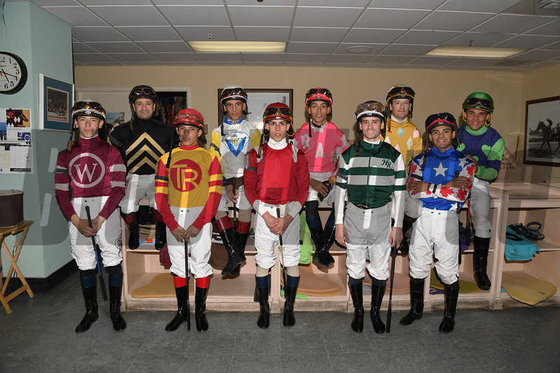 2020 Pegasus World Cup Invitational at Gulfstream Park Jockeys. Photo: Coglianese Photos