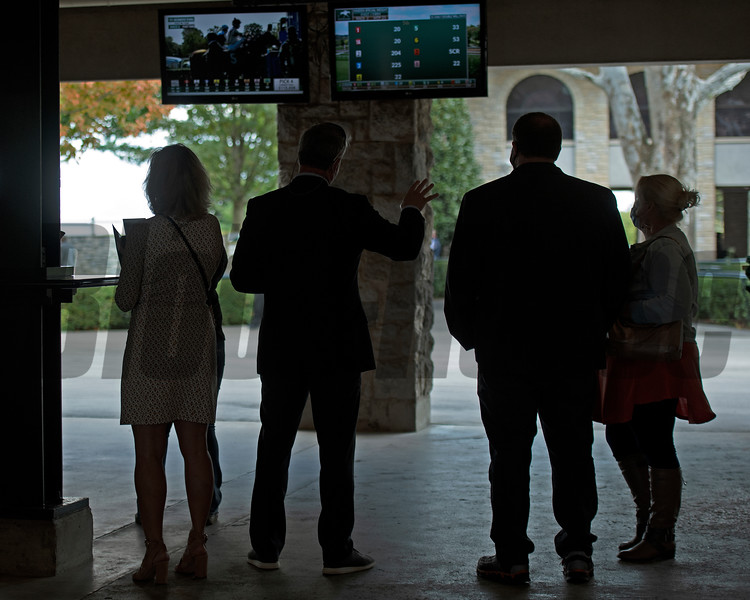 watching a replay<br /> Scenes at Keeneland  on October 3, 2020.