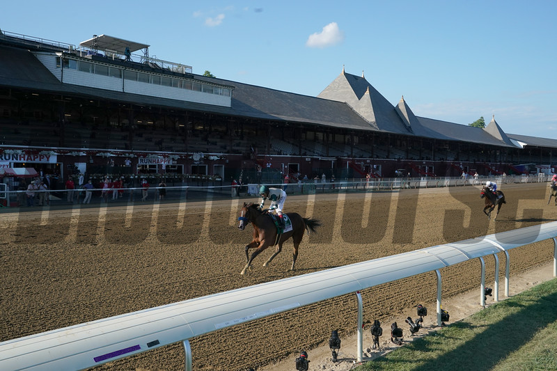 Gamine wins the 2020 Test Stakes at Saratoga<br /> Coglianese Photos/Stacey Hetherington