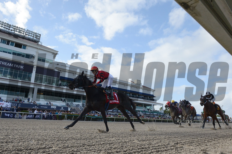 Extravagant Kid wins the 2020 Sunshine Millions Sprint Stakes at Gulfstream Park<br /> Coglianese Photos