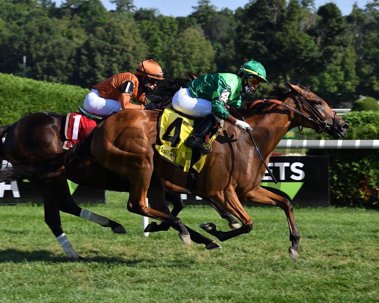 My Sister Nat wins the 2020 Waya Stakes at Saratoga<br /> Coglianese Photos