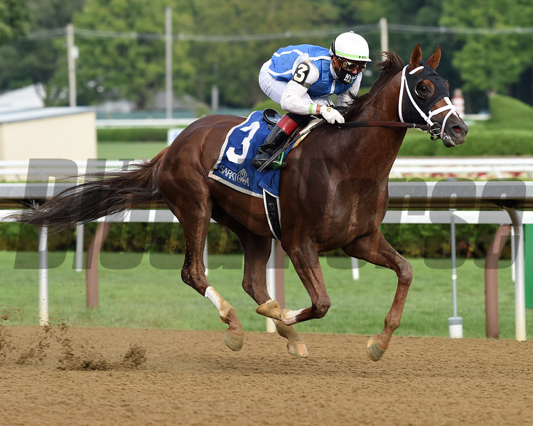 Spinoff wins the Alydar Stakes Sunday, August 9, 2020 at Saratoga Race Course. Photo: Coglianese Photos