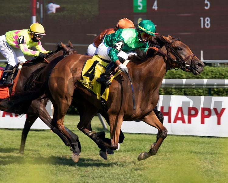 My Sister Nat wins the 2020 Waya Stakes at Saratoga<br /> Coglianese Photos/Janet Garaguso