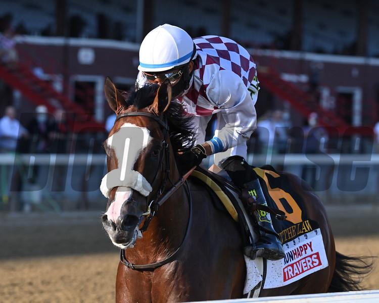 Tiz the Law wins the 2020 Travers Stakes<br /> Coglianese Photos/Joe Labozzetta