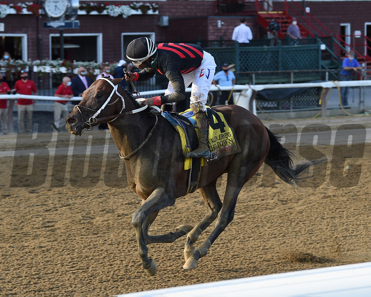 Echo Town wins the H. Allen Jerkens Stakes Saturday, August 1, 2020 at Saratoga. Photo: Coglianese Photos/Chelsea Durand