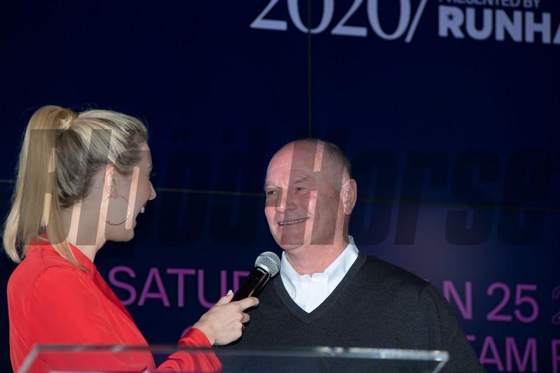 Richard Mandella @ Pegasus  draw  @ Gulfstream Park.  Fl   Jan 22 2020<br />    ©Joe DiOrio/Winningimages.biz