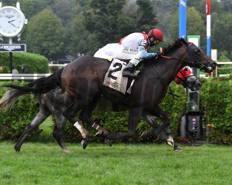 Bye Bye Melvin wins the 2020 Saranac Stakes at Saratoga<br /> Coglianese Photos/Susie Raisher