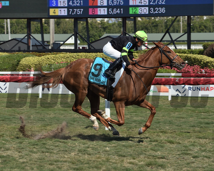 Elizabeth Way wins the 2020 The Very One Stakes at Gulfstream Park<br /> Coglianese Photos
