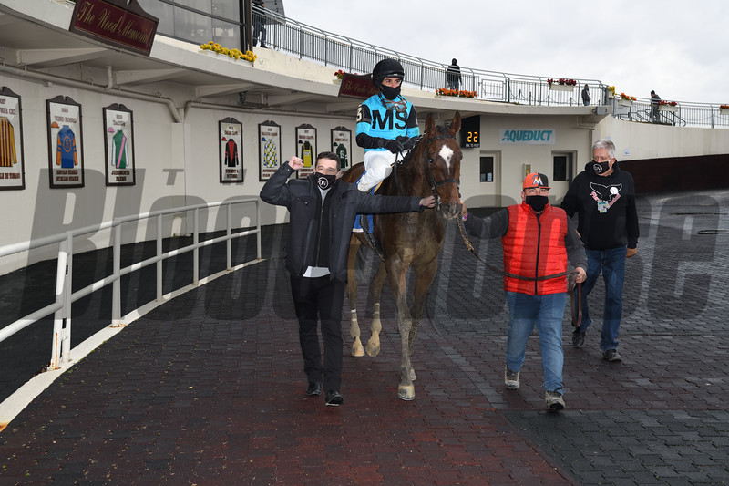 Brooklyn Strong wins the 2020 Remsen Stakes at Aqueduct<br /> Coglianese Photos