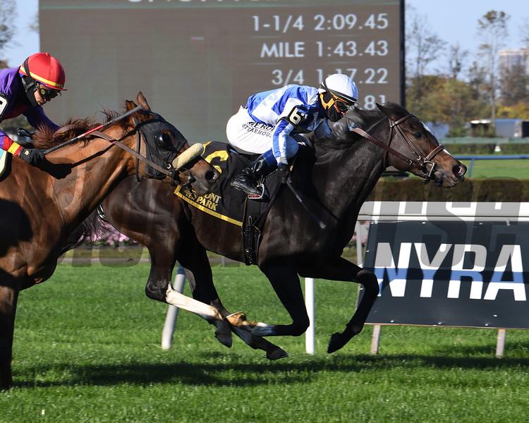 Luck Money wins the 2020 Zagora Stakes at Belmont Park<br /> Coglianese Photos/Susie Raisher