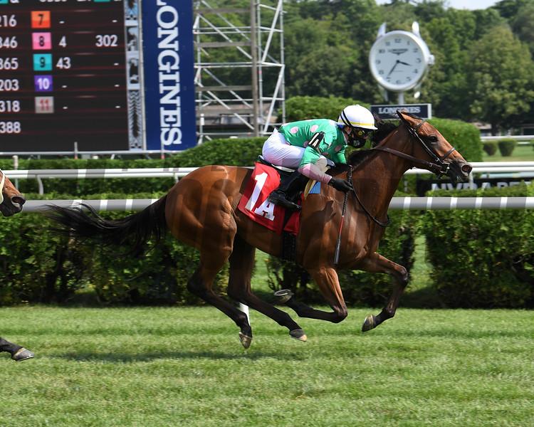 Mischievous Dream wins maiden special weight July 19, 2020 at Saratoga. Photo: Coglianese Photos