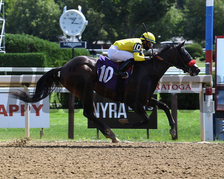Half Right wins maiden special weight Sunday, August 30, 2020 at Saratoga. Photo: Coglianese Photos