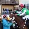 Diamond King wins the 2020 Stymie Stakes at Aqueduct. Photo: Coglianese Photos/Susie Raisher