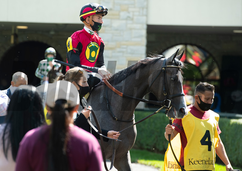 Honorifique with Tyler Gaffalione<br /> Scenes at Keeneland  on October 3, 2020.