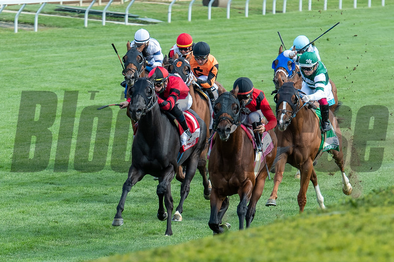 Leinster with Luis Saez wins the Woodford Presented by TVA (G2) at Keeneland  on October 3, 2020.