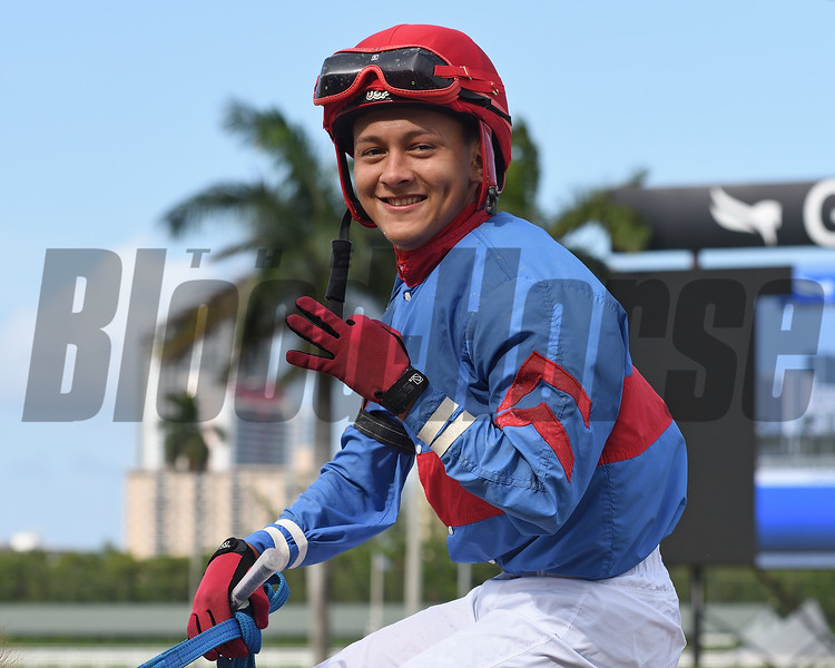 Joseph Trejos 3 wins, Gulfstream Park, May 28, 2020<br /> Coglianese Photos/Ryan Thompson