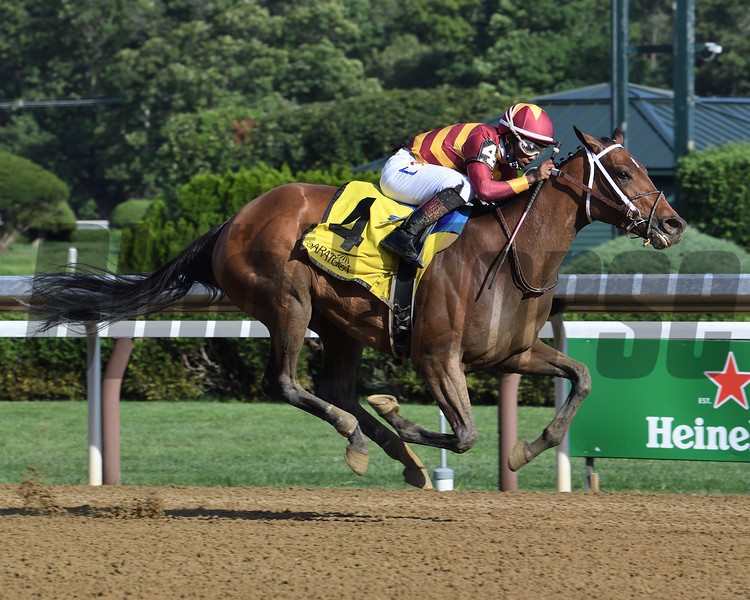 Thoughtfully wins the 2020 Adirondack Stakes at Saratoga<br /> Coglianese Photos