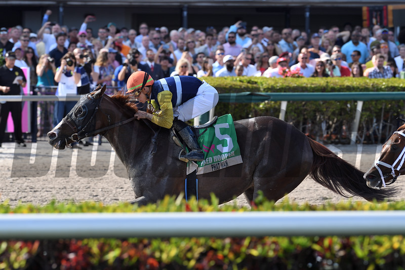 Phat Man wins the 2020 Fred W. Hooper Stakes at Gulfstream Park<br /> Coglianese Photos/Derbe Glass