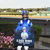 Malathaat wins maiden special weight October 9, 2020 at Belmont Park giving jockey John Velazquez his 2,000 career win. Photo: Coglianese Photos/Chelsea Durand
