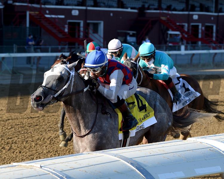 Volatile wins 2020 Alfred G. Vanderbilt Handicap at Saratoga. Photo: Coglianese Photos/Chelsea Durand