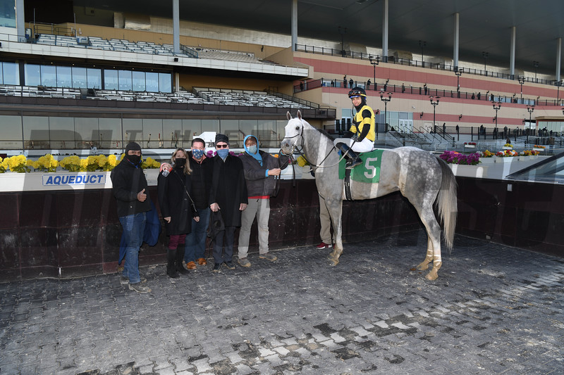 Chestertown wins an allowance optional claiming race Sunday, December 6, 2020 at Aqueduct. Photo: Coglianese Photos