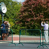taking photos before heading into track.<br /> Scenes at Keeneland  on October 3, 2020.