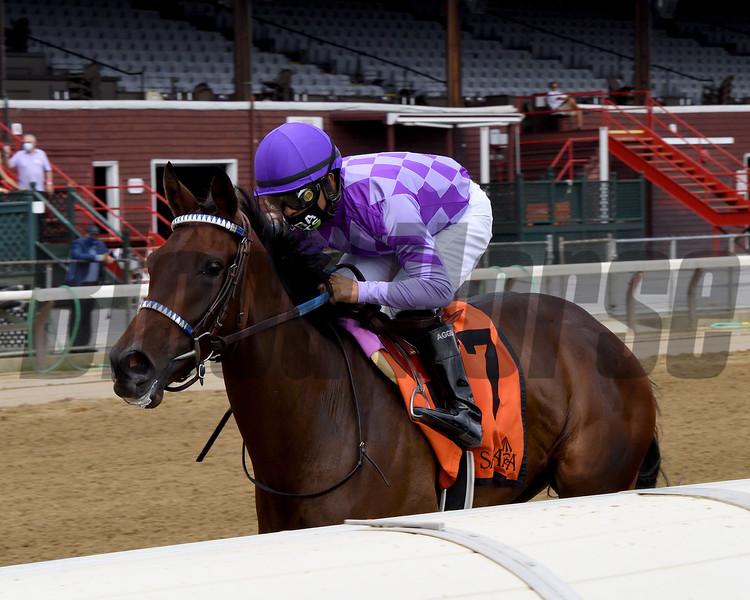 Simply Ravishing wins the 2020 P. G. Johnson Stakes at Saratoga<br /> Coglianese Photos/Chelsea Durand
