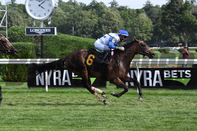Witez wins an allowance race Sunday, July 26, 2020 at Saratoga Race Course. Photo: Coglianese Photos