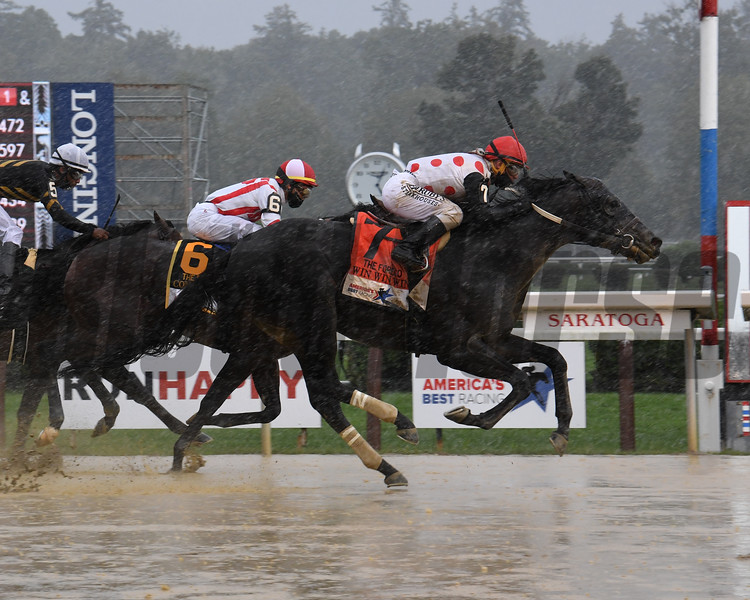 Win WIn Win wins the Forego Stakes at Saratoga<br /> Coglianese Photos/Susie Raisher