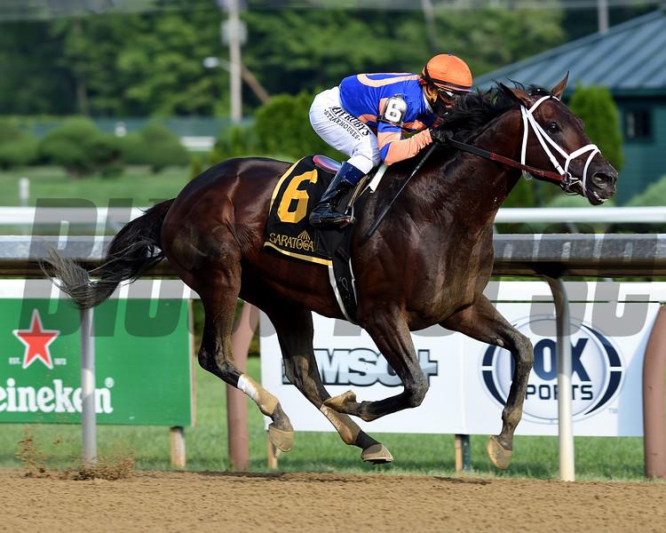 Moretti wins the Birdstone Stakes Sunday, August 2, 2020 at Saratoga. Photo: Coglianese Photos
