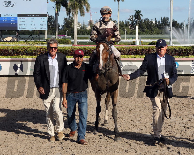 Pink Sands with Jose Ortiz  up wins the 2020 Run Happy Matchmaker Series for trainer Shut McGaughey  and owner Gainesway Farm and Andrew Rosen. Photo: Photos by Z