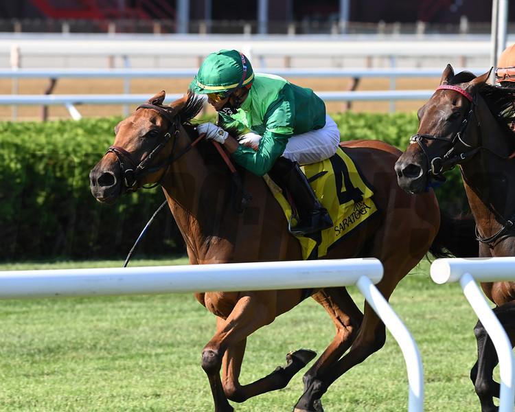 My Sister Nat wins the 2020 Waya Stakes at Saratoga<br /> Coglianese Photos/Joe Labozzetta