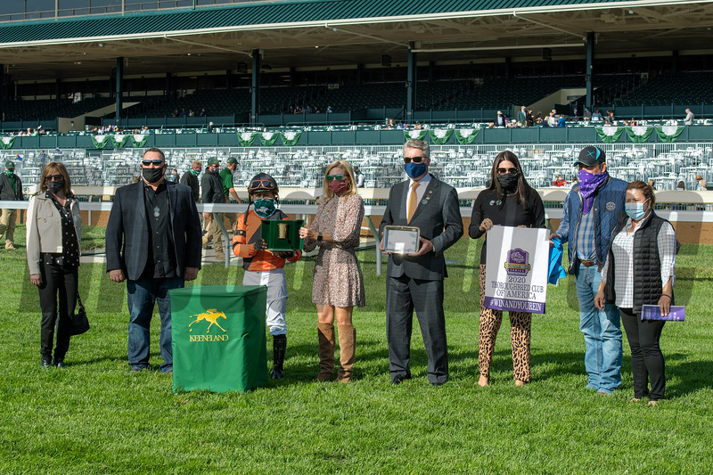 Inthemidstofbiz with Martin Garcia wins the Thoroughbred Club of America (G2) at Keeneland on October 3, 2020.