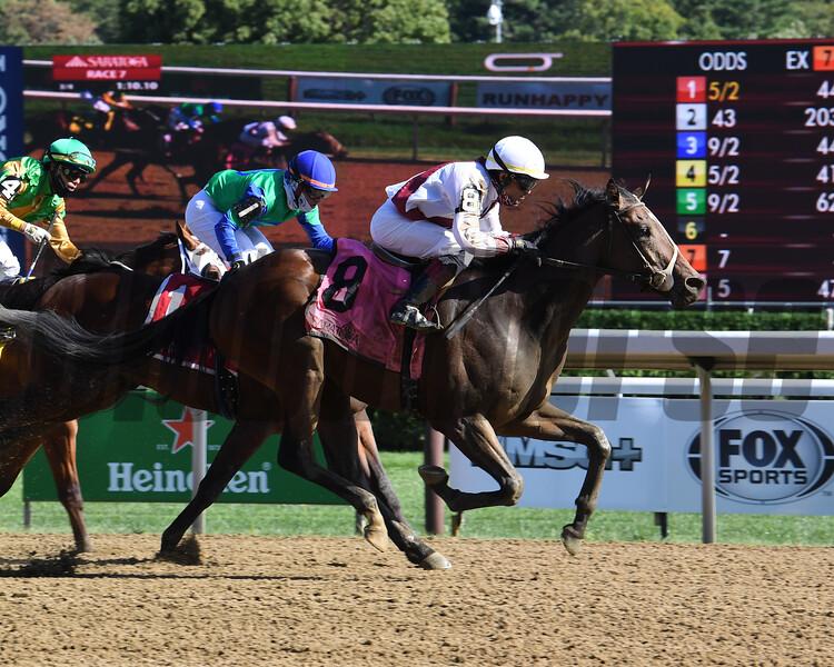 Thin White Duke wins the 2020 Funny Cide Stakes at Saratoga<br /> Coglianese Photos/Susie Raisher