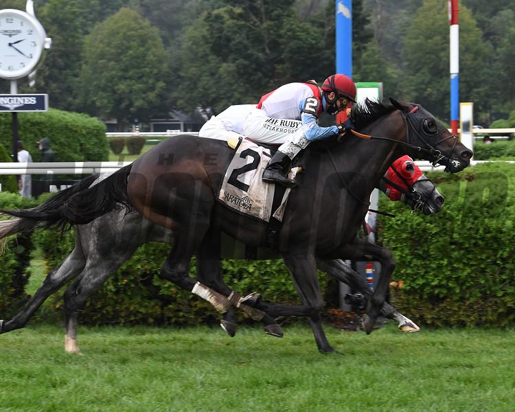 Bye Bye Melvin wins the 2020 Saranac Stakes at Saratoga<br /> Coglianese Photos