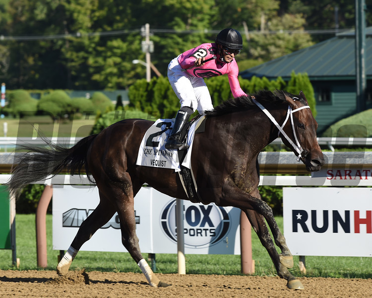 Vequist wins the Spinaway Stakes Sunday, September 6, 2020 at Saratoga Race Course. Photo: Coglianese Photos
