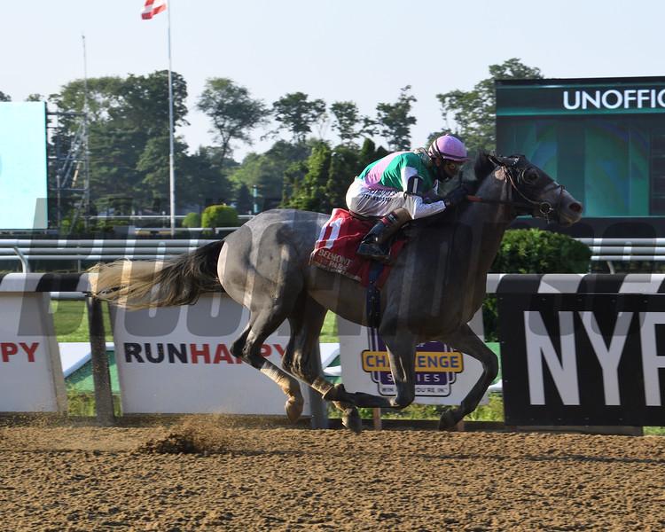 Tacitus wins the Suburban Stakes Saturday, July 4, 2020 at Belmont Park. Photo: Coglianese Photos/Susie Raisher