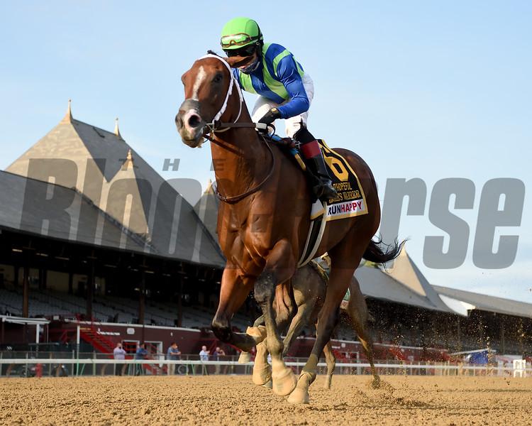 Jackie's Warrior wins the Hopeful Stakes Monday, September 7, 2020 at Saratoga Race Course. Photo: Coglianese Photos/Chelsea Durand