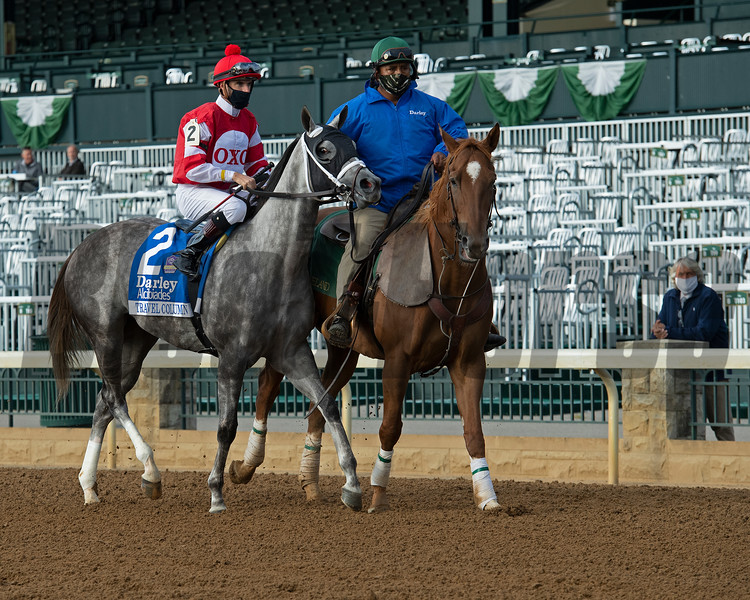 Travel Column before the Darley Alcibiades (G1) at Keeneland.<br /> Opening day of the Keeneland fall meeting on October 2, 2020.