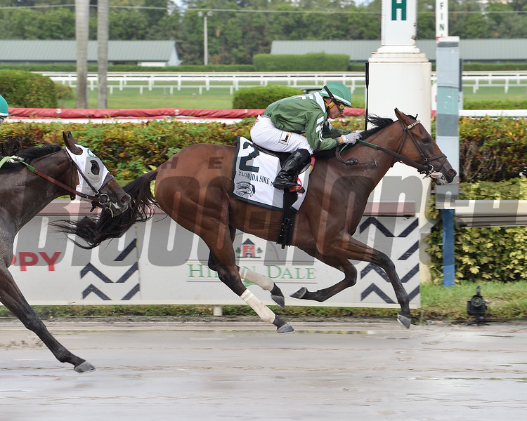 Breeze On By wins the 2020 FTBOA Florida Sire Dr. Fager Stakes at Gulfstream Park<br /> Coglianese Photos/Lauren King