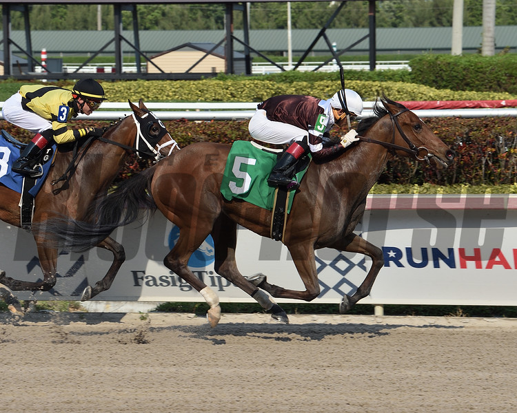 Finding Fame - AOC, Gulfstream Park, April 10, 2020<br /> Coglianese Photos/Lauren King