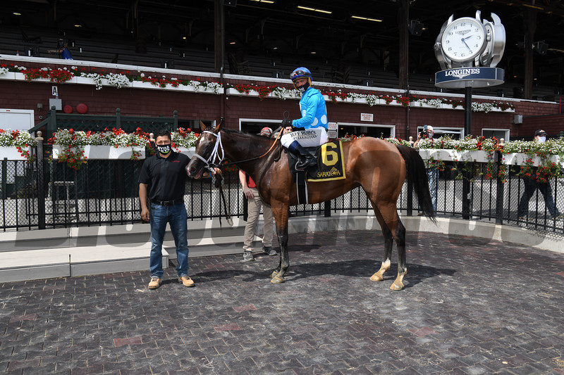 Starship Jubilee wins the 2020 Ballston Spa Stakes at Saratoga<br /> Coglianese Photos
