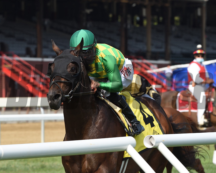 Ballagh Rocks wins the Lure Stakes Monday, September 7, 2020 at Saratoga Race Course. Photo: Coglianese Photos/Chelsea Durand